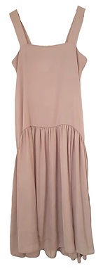 שמלת סאטן מידי בגזרת לוס M I tsumi by GOLF
