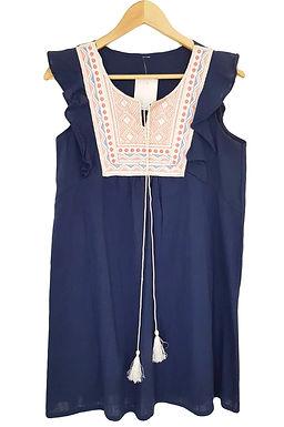 שמלה עם רקמה בגזרת  S\M I A