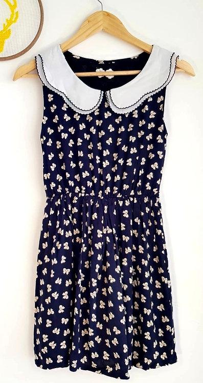 שמלה בסגנון וינטג' פפיונים XS I