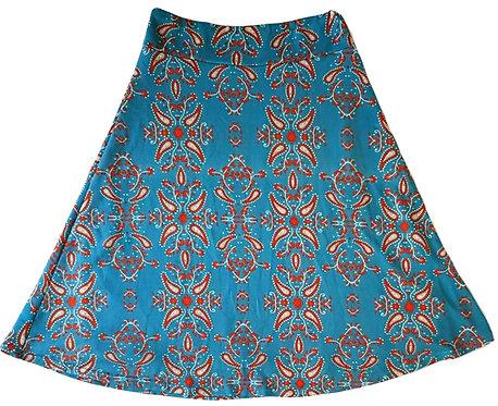 חצאית פעמון פייזלי פלנל M I cameleon