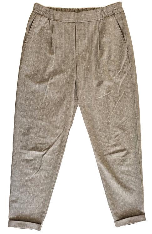 מכנסי צ'ינו אפורים עם פסים דקיקים M | Bershka