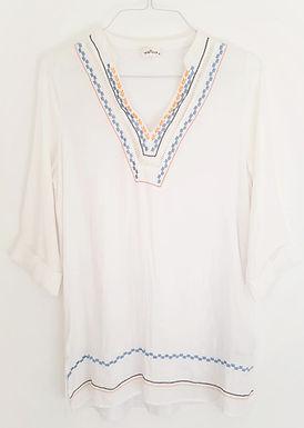 חולצת משי עם רקמה M I yanga