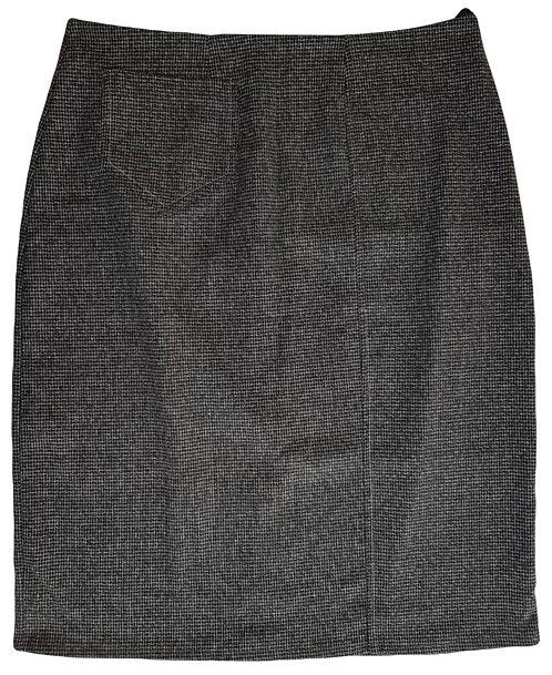 חצאית סיגר דמוי צמר M\L   DORIN FRANKFURT