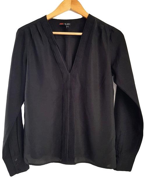 חולצת ויסקוזה שחורה M I CASTRO