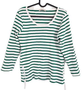 חולצת כותנה פיקה אוברסייז מפוספסת XS I GOLF