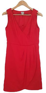 שמלה אדומה מחויטת M I H&M