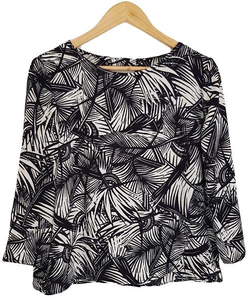 חולצת עלים מונוכרומטית XL I MANGO