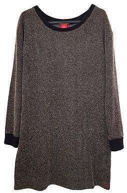 שמלה ישרה בסגנון אוברסייז S | CASTRO