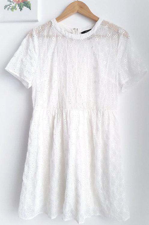 שמלת פרחים לבנה M/L FOREVE 21 I