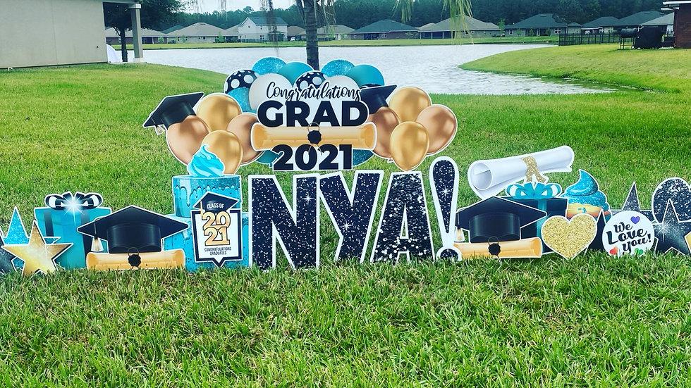Grad Yard Card