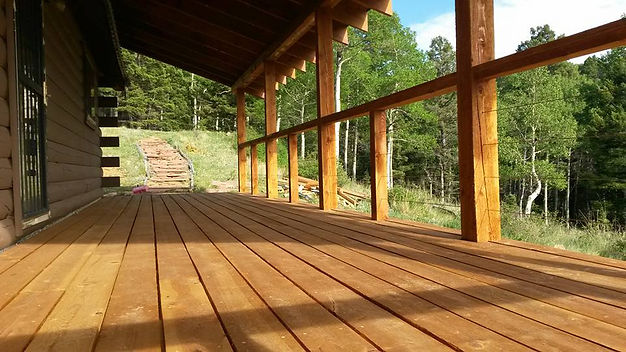 Douglas fir deck built by East Texas Craftsman in Jacksonville, TX.