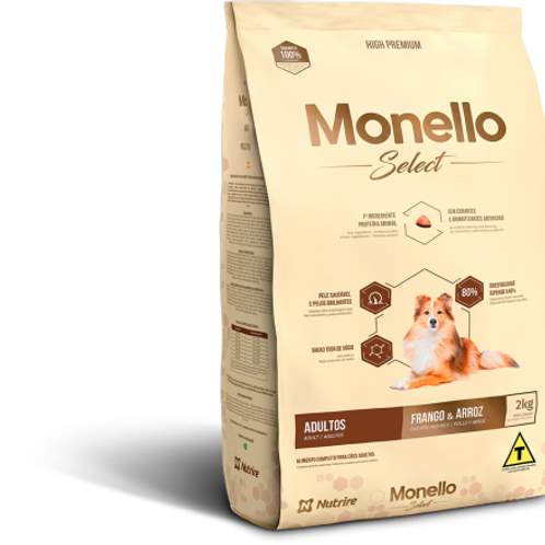 Monello Select Adulto Pollo y Arroz 2KG-7KG-15KG