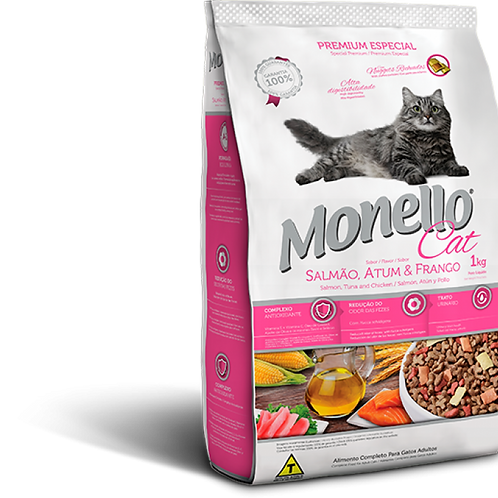 Monello Premium Gatos Salmón, Atún y Pollo 1K-7KG-15KG