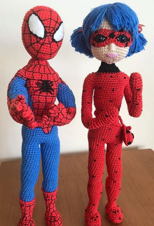Amigurumi Spiderman (Örümcek Adam) Yapımı | Örümcek adam ... | 447x305