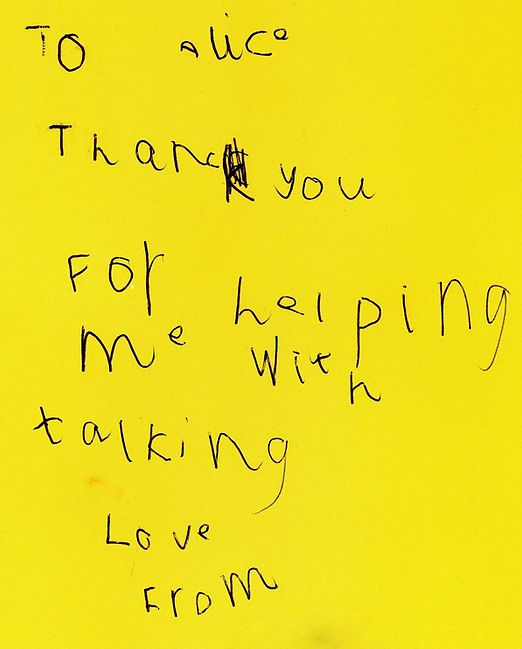 Thank you for helping me with talking card