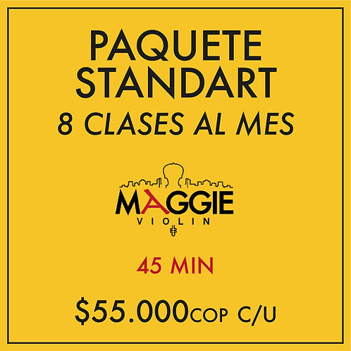 Paquete Standart mensual (8 Clases)