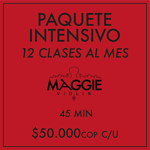Paquete Intensivo mensual (12 Clases)