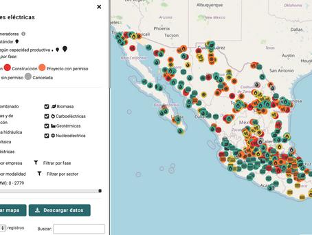 Lanzamiento del geovisualizador Alumbrar las contradicciones del Sistema Eléctrico Mexicano y de la