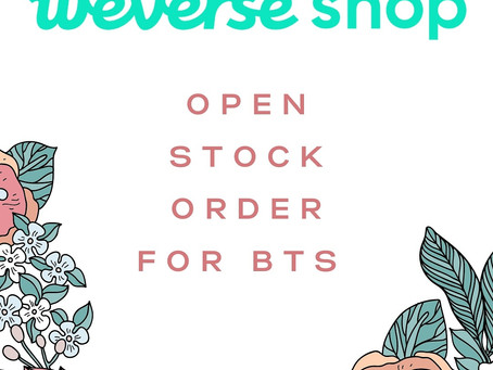 [OPEN] Weverse Shop stock sale available!