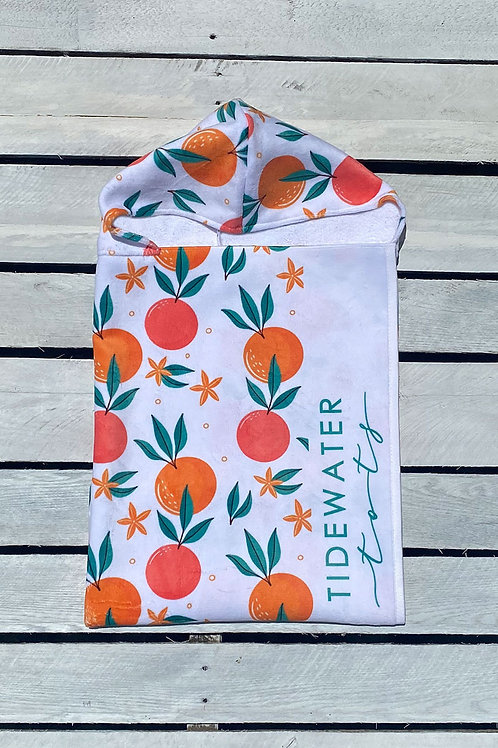 Tropical Fruit Youth Hooded Towel