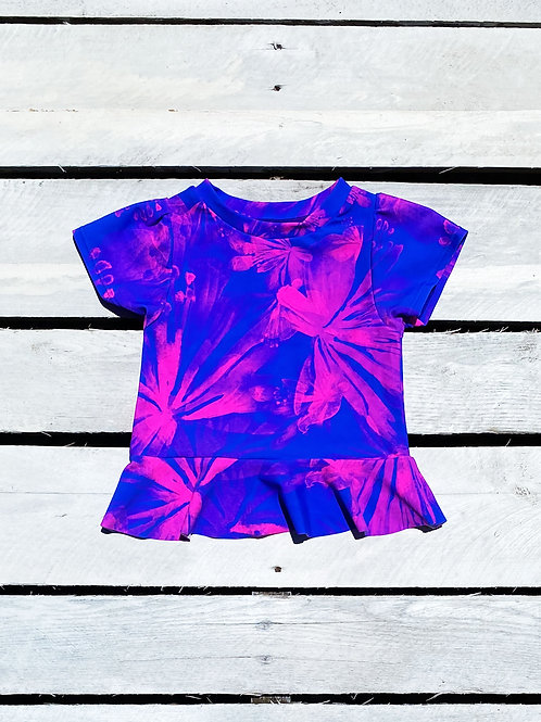 Vibrant Tropics Short Sleeve Rash Guard