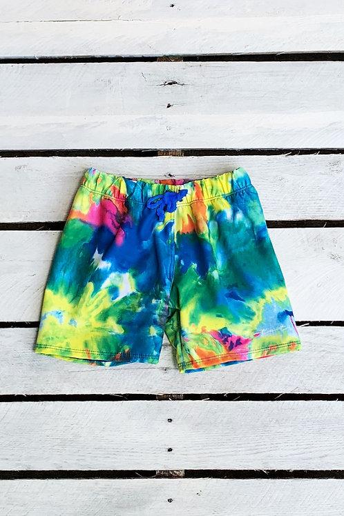 Boys Swim Short Neon Tie Dye