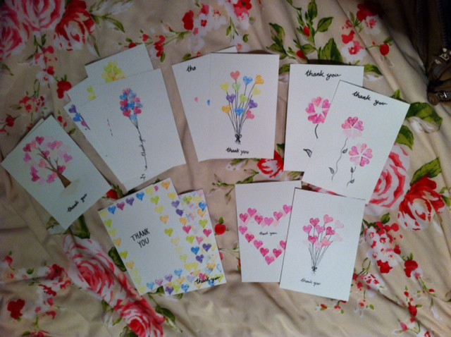 Thank you cards I made