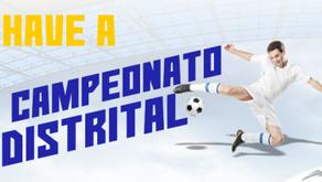 Campeonato Distrital: Confira a tabela de classificação ao final da 1ª Fase (3 jogos)