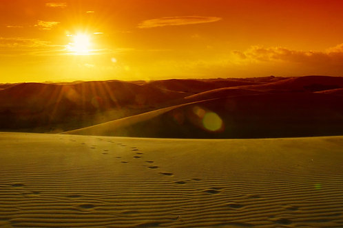 Sand Dunes Medanos Sunset