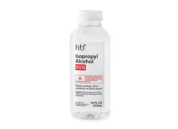 91% Isopropyl Alcohol - 16oz Bottle