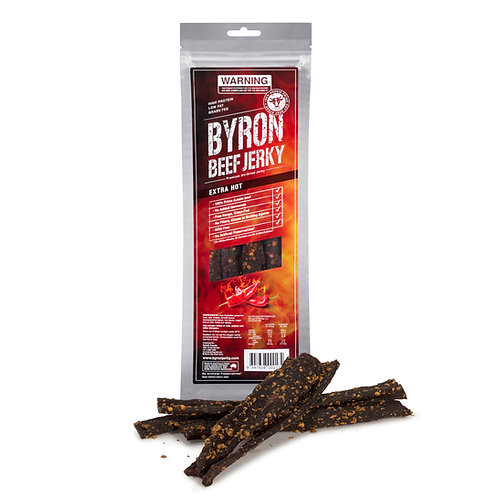 Extra Hot. Byron Beef Jerky 2 x 100g bags
