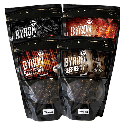 4 x 500g  2 kg of Jerky. Choose 4 different flavours if you want.