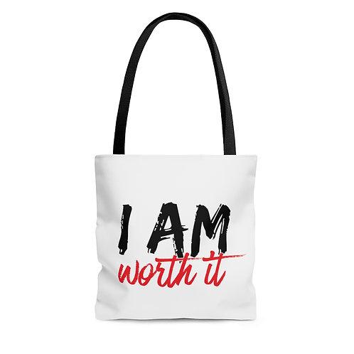I AM Worth It AOP Tote Bag