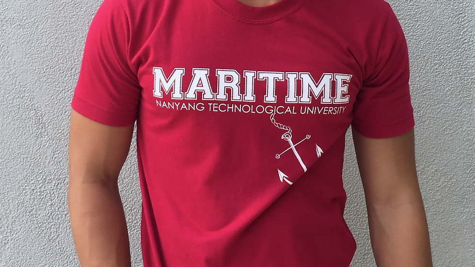 Maritime Studies Shirt (Maroon, Cotton)