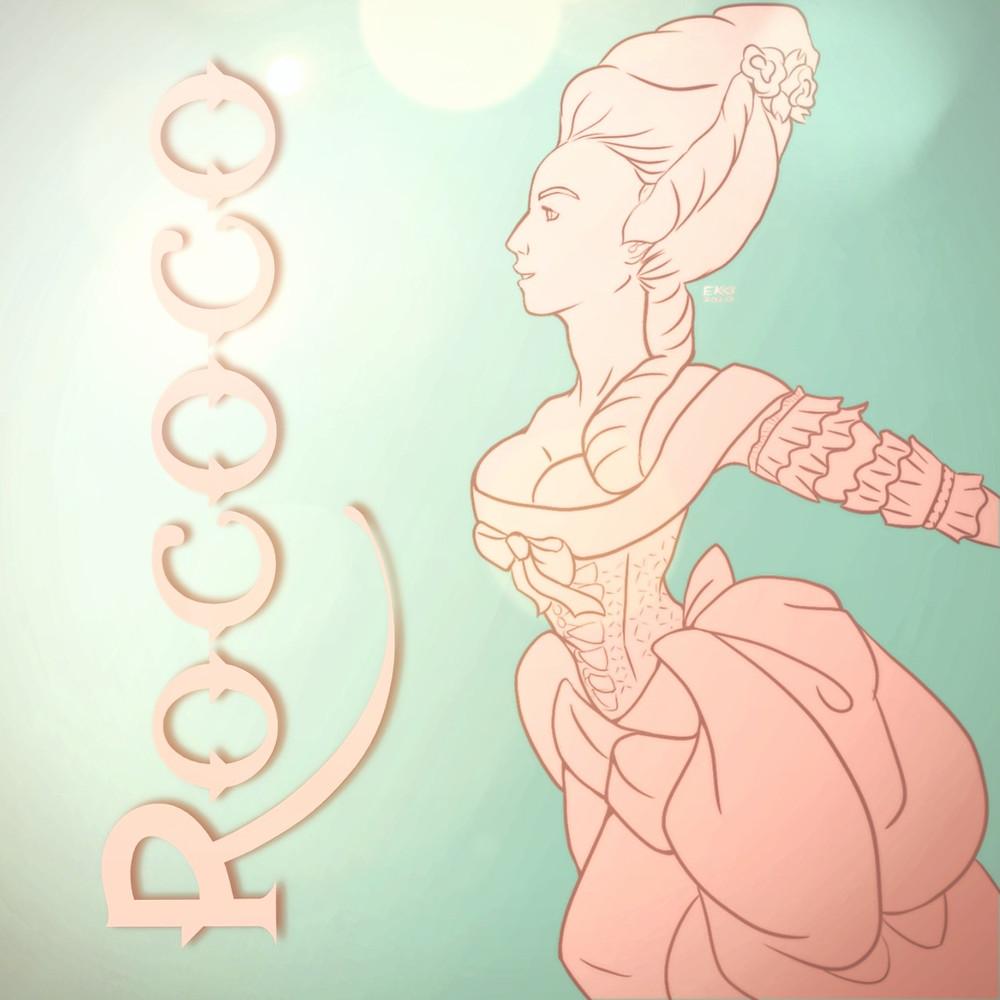 Rococo Marie Antoinette Graphic