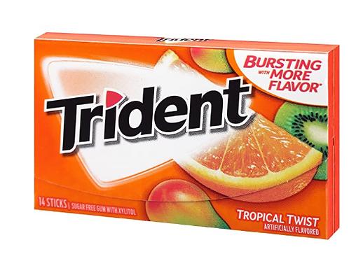 Trident Gum, Tropical Twist, 15 ct.