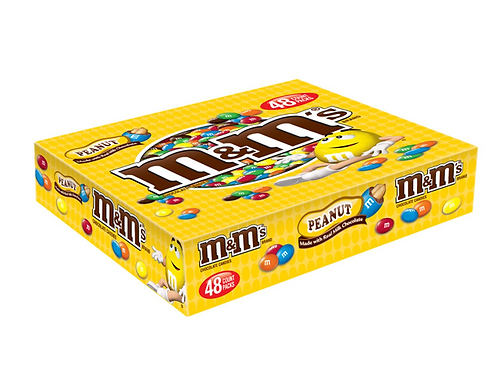 M&M's, Peanut Chocolate Candies, 48 ct.