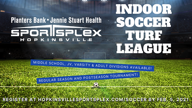 Sportsplex Indoor Soccer League Graphic
