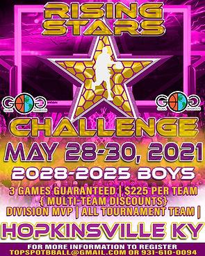 Rising Stars Challenge May 28-30, 2021.j