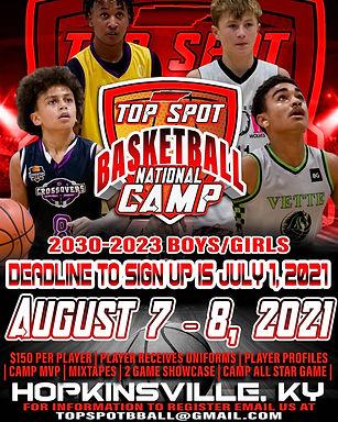 Top Spot Basketball National Camp Aug. 7