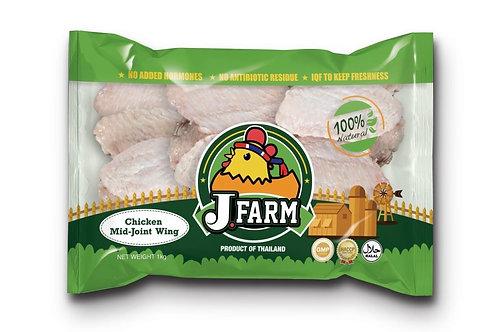 J.Farm無添加激素雞中翼 (1kg) - 節日