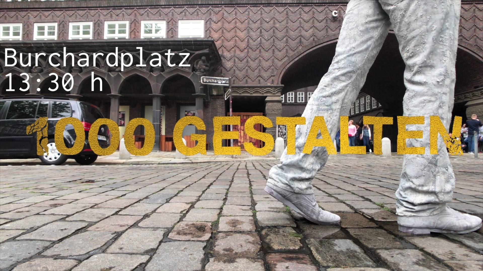 Die 1000 GESTALTEN | KunstAktion zum G20-Gipfel in Hamburg, findet am Mittwoch, den 05.07.2017, um 13:30 Uhr auf dem Burchardplatz statt.  Kommt und begegnet den 1000 GESTALTEN!  ************english version************  The 1000 GESTALTEN performance