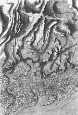 Map of a Star-shaped Mountain (A5)