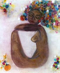 """""""La femme apaisée"""" 54 x 64,5 cm"""