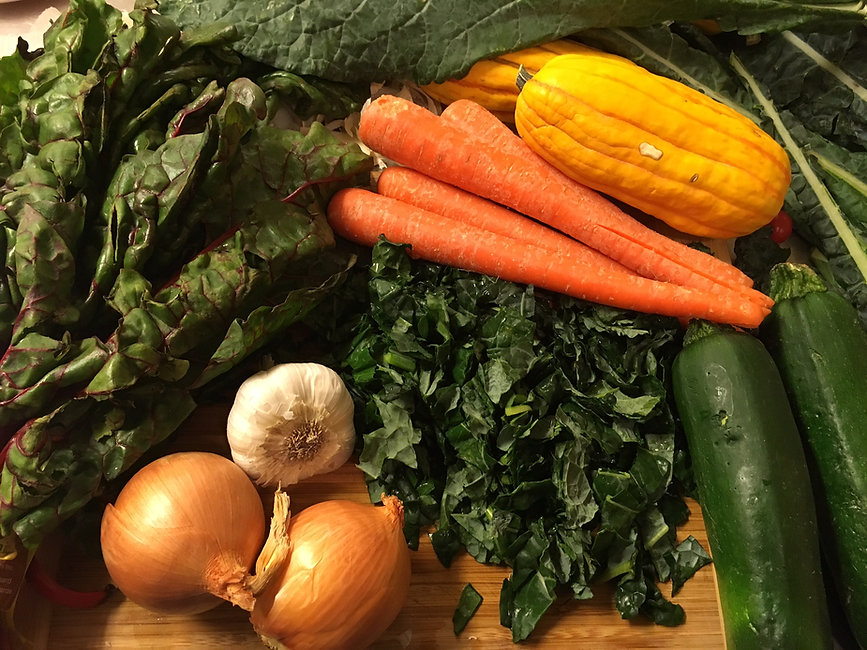 healthy produce and ingredients