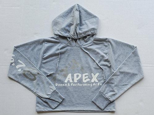 Gray Apex Cropped Hoodie