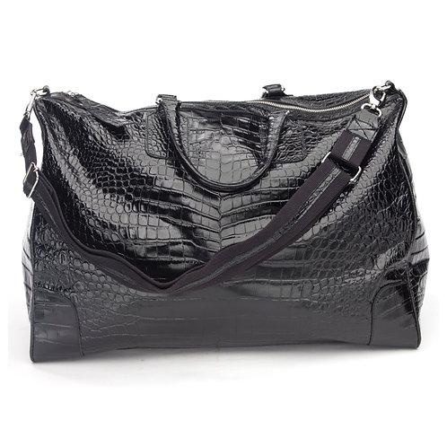 BLACK CROC WEEKENDER BAG