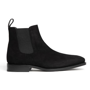 Suede Chelsea Boot (Black)