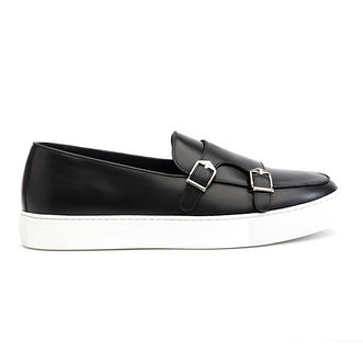 Belgian Monk Strap Sneaker (Black)Belgian Double Monk Strap Sneaker (Black)