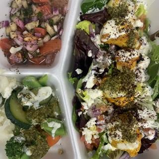 Salmon & Salad Platter